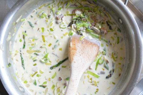 The Cream, Leeks, Mushrooms and Asparagus