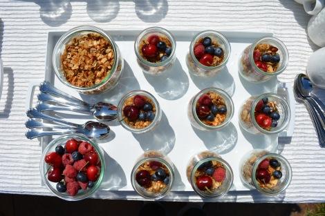 Homeade Granola and Yogurt Parfaits.