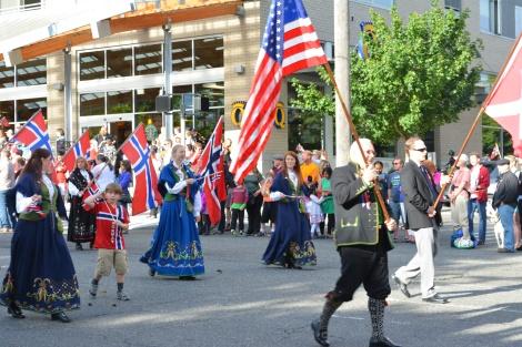 Syttende Mai Parade 2014 in Ballard.