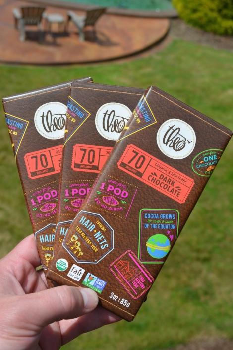 Theo's Dark Chocolate.