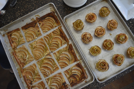 Rose Apple Tarts and the Classic Apple Runner Tart.