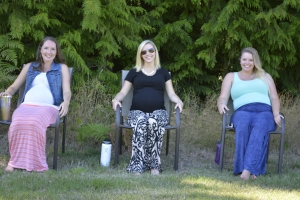 The Ladies in the shade.