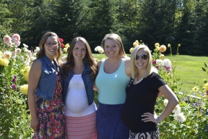 My sister in law, Nakayla with her friends in the Dahlias.
